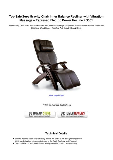 top sale zero gravity chair inner balance recliner with