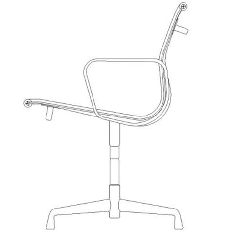 free cad blocks office chair elevation