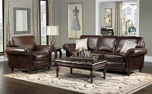 Gray leather living room furniture peenmediacom for Grey leather living room furniture