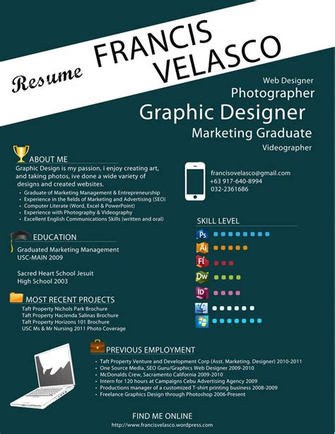 Graphic Designer Cv by Eh Skill Level Section Is Kinda Cool Cv