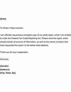 request for credit report template With credit report request form letter
