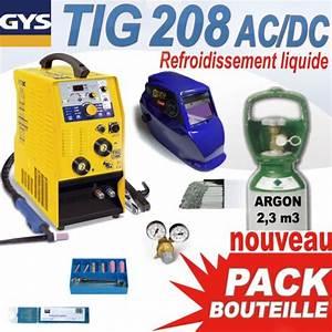Poste A Souder Tig Alu : pack tig 208l ac dc avec bouteille accessoires gys ~ Nature-et-papiers.com Idées de Décoration