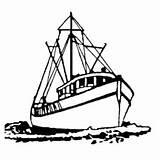 Boat Fishing Coloring Dock Broken Sail sketch template