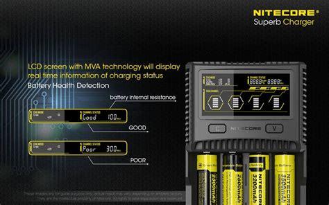nitecore sc superb charger  slot universal battery charger     rcra