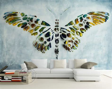 Home Interior Butterflies : Personalized Custom Wall Murals 3d Butterfly Painting