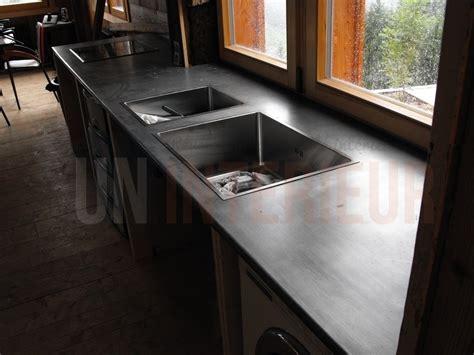 plaque de zinc pour cuisine plan en zinc sur mesure evier et plaques