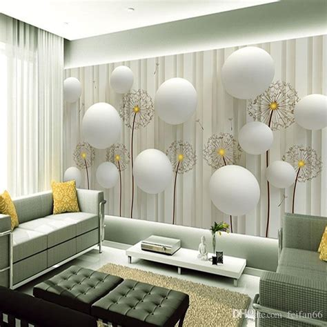 dandelion  romantic  ball photo wallpaper living