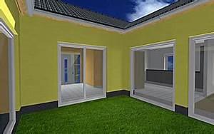 Bungalow Mit Atrium : atrium 13 winkelbungalow mit erker 129 16 einfamilienhaus neubau massivbau stein auf stein ~ Frokenaadalensverden.com Haus und Dekorationen