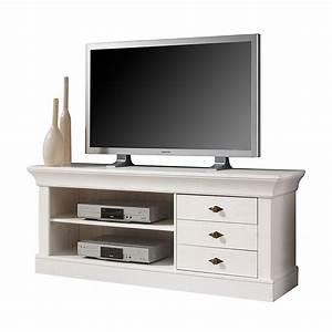 Tv Board Landhaus : tv lowboard alda kiefer massiv wei ~ Indierocktalk.com Haus und Dekorationen