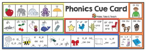 phonics cue card   teach