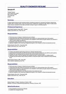 How To Write A Objective For A Resumes 3 Quality Engineer Resume Samples