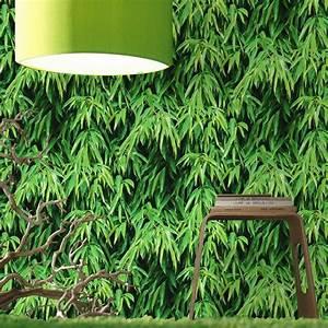 Foret Carrelage Leroy Merlin : papier peint vert bambou pour une ambiance v g tale ~ Dailycaller-alerts.com Idées de Décoration