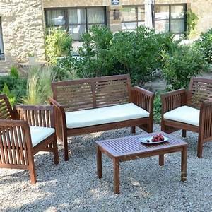 Salon De Jardin Acacia : salon de jardin guyana 4 places salon de jardin eminza ~ Teatrodelosmanantiales.com Idées de Décoration