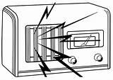 Radio Dibujo Colorear sketch template