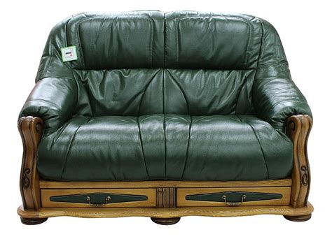 How To Clean Leather Settee by Belgium Storage Drawer Genuine Italian Leather 2 Seater