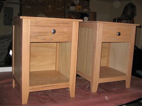 craftsman style nightstands built  red oak