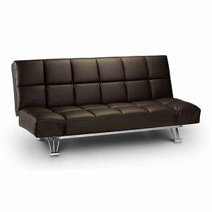 manhattan faux leather sofa bed next day delivery With leather look sofa bed