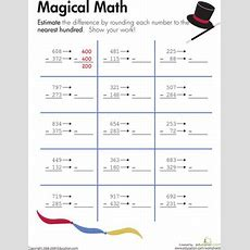 Rounding Magical Math!  Math, Worksheets And Math Worksheets