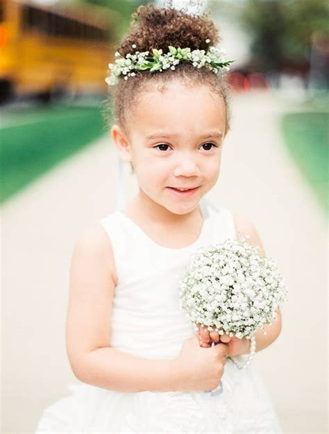 15 Gorgeous Flower Girl Hairstyles   Brit   Co