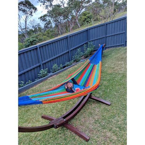 Hammock And Wooden Stand by Wooden Hammock Stand Free Standing Hammocks Australia