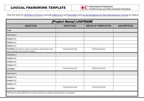 Project Logframe Template Natashamillerweb