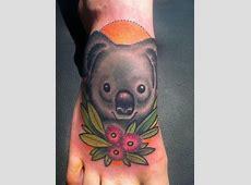 Tatouage Koala Fleur Tattoo Art
