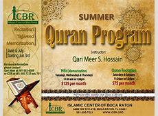 Summer Quran Program Islamic Center of Boca Raton