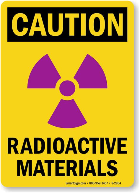 radioactive material signs radioactive substance warnings