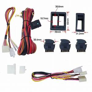 Dc 12v Car Universal Top Quality Power Window Switch Kits With Wiring Harness
