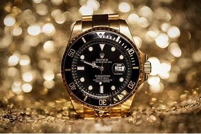 Rolex Wallpapers Golden Gold Watches Background Diamond
