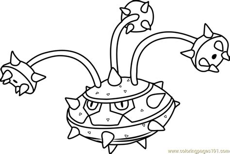 ferrothorn pokemon coloring page  pokemon coloring