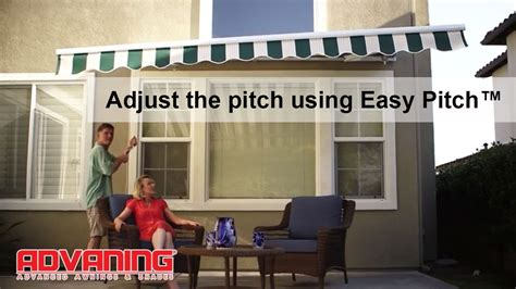 advaning awning adjust  pitch  easy pitch youtube