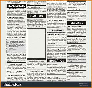 newspaper ad template teller resume sample With fake newspaper template