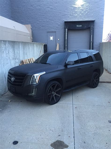 cadillac escalade obsidian black brushed metal