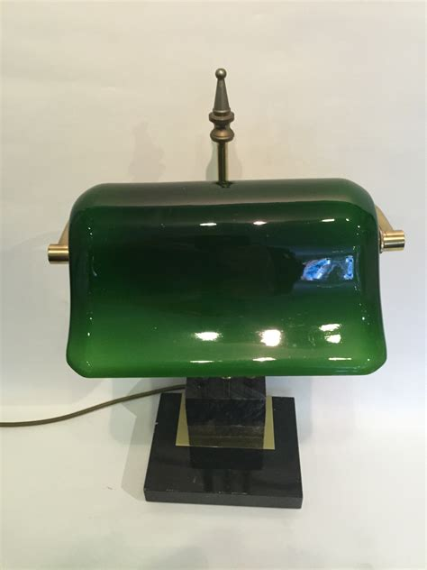 bankers l green glass brass banker s desk l with a green glass shade brass