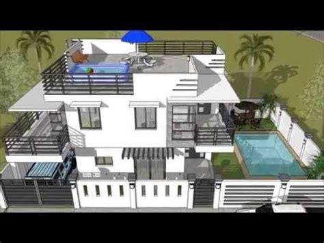 storey  roofdeck pool house designer  builder  storey house design pool house