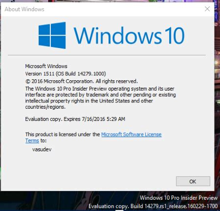 what is new in windows 10 insider preview build 14279