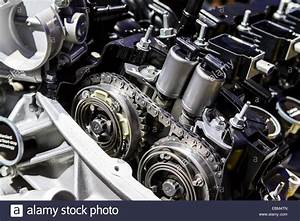 Camshaft Closeup Of The Ford 3 5l Ti-vct Truck Engine At The 2014 Los Stock Photo  76045557