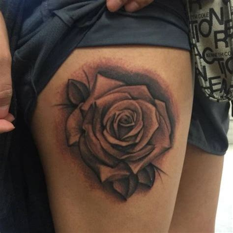 rose thigh tattoos designs ideas  meaning tattoos