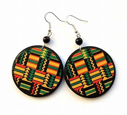 African Earrings Africa Monday Friday Cyber Decoupage
