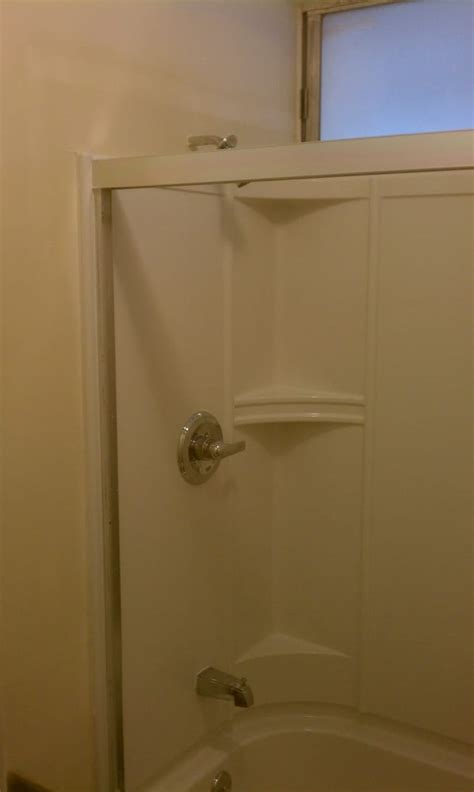 Integrated Shower Units by New Quot Integrated Wall Quot Bath Tub Shower Unit After Install