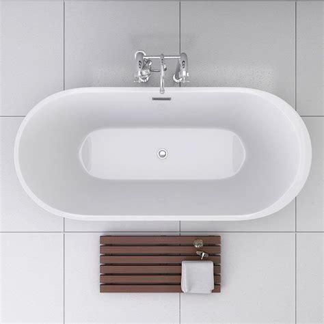 baignoire 238 lot ovale 170x80 cm monocoque acrylique reno
