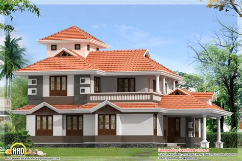 Home Design Plans : 4 Bedroom, 2300 Sq.ft. Kerala Home Design