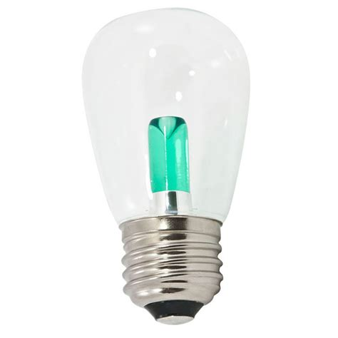 green transparent led s14 professional series light bulbs