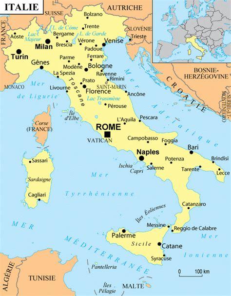 Carte Italie Villes by Italie Villes Voyages Cartes