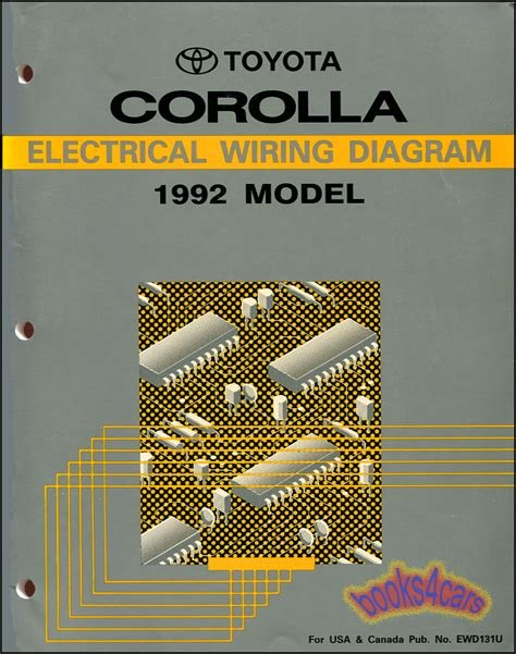 shop manual service repair corolla electrical wiring diagram toyota schematic