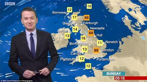 bbc weatherman matt taylor forecasts temperatures