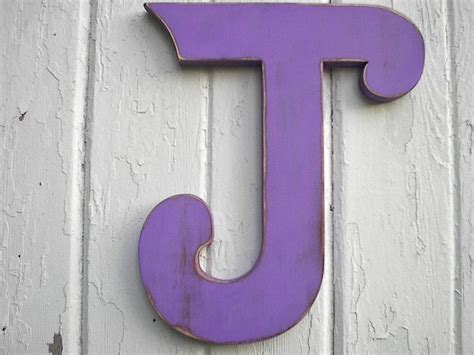 Shabby Chic Wooden Letter J 12 Inch Wedding Initial Photo Prop