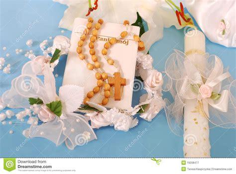 holy communion prayer book  rosary stock image image