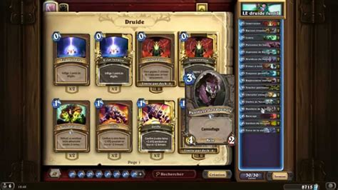 Hearthstone Zoolock Deck Tgt by Deck Druide Camouflage Hearthstone Tgt